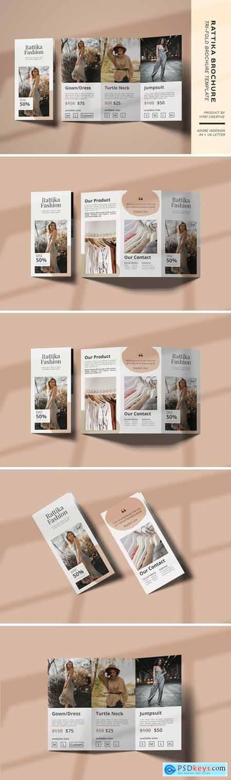 Fashion Lookbook Trifold Brochure