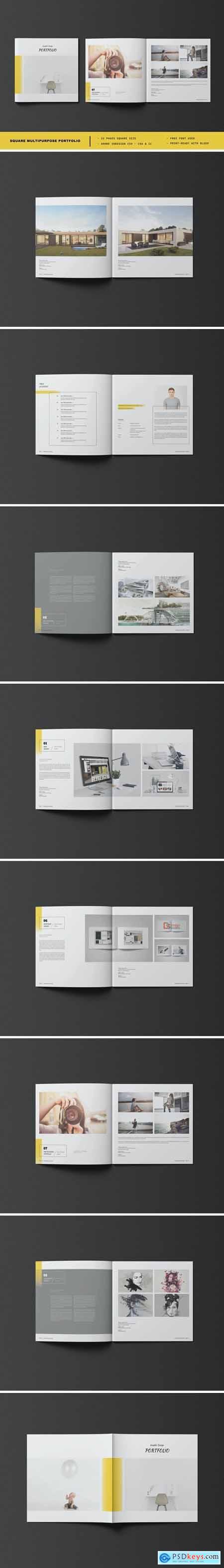 Square Multipurpose Portfolio