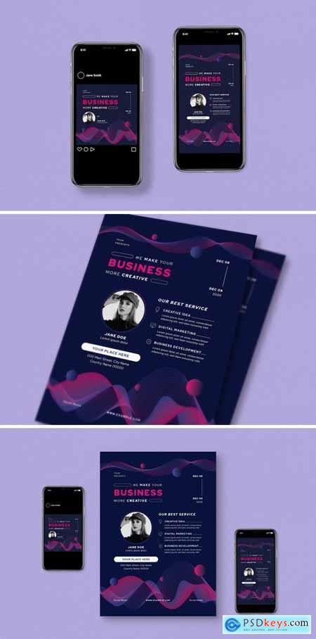 Creative Business Flyer Set