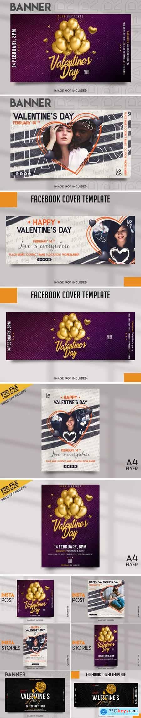 Valentines Day Social Media Template Pack