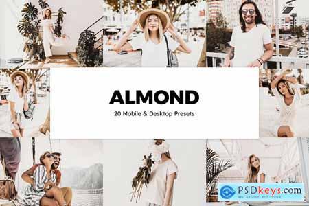 20 Almond Lightroom Presets & LUTs 5785161