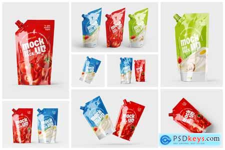Doypack Packaging Mockup Set - Pouch 5797276
