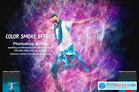 Color Smoke Effect Photoshop Action 5471748