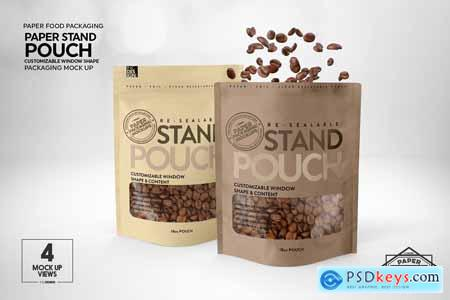 Paper Zip 18oz Pouch Packaging Mockup 5780121
