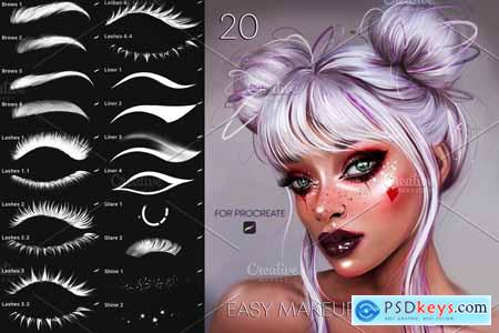 Easy MakeUp Brushes for Procreate 5495866