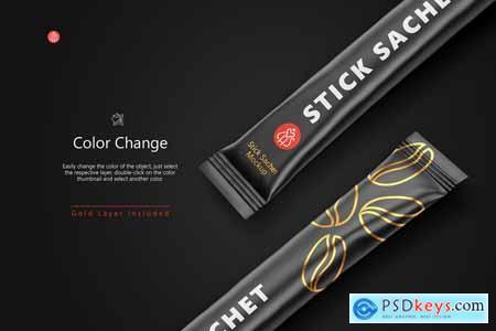 Stick Sachet Mockup – Half side View 5754988