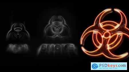 Dark Smoke Neon Logo Intro Reveal 25789177