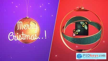 Merry Christmas Ball Logo 29647640