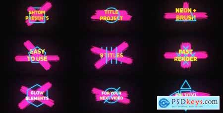 Neon Brush Titles 20620768