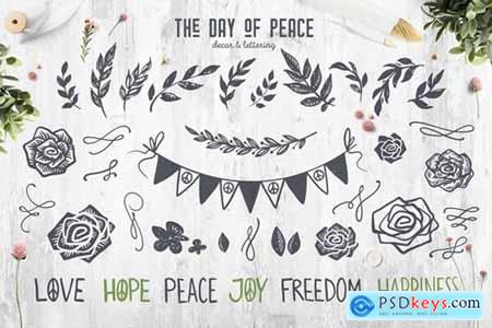 The Day of Peace -- Decor & Lettering