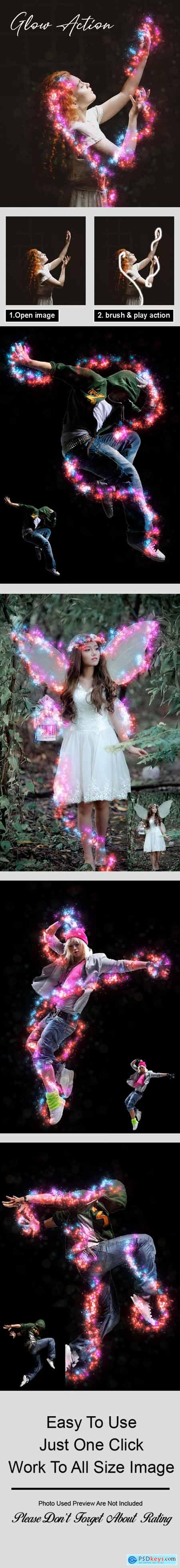 Glow Photoshop Action Vol 2 29783116