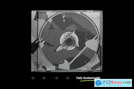 Distressed CD Jewel Case Mockup 5670335