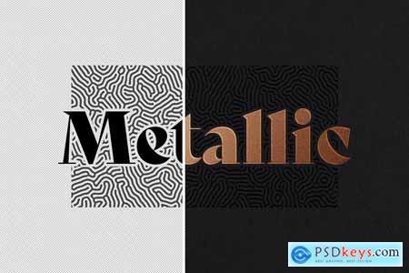 Metallic Foil Logo Mockup 5805031