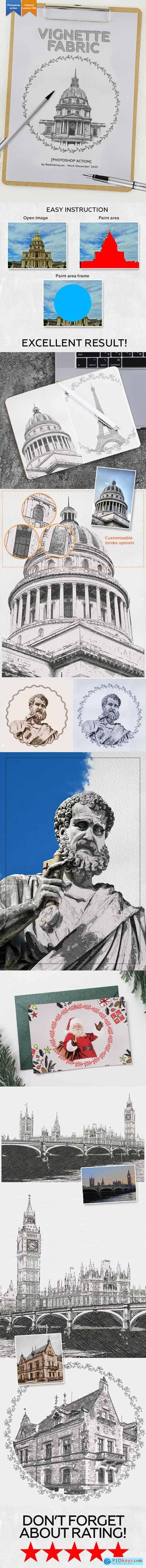 Vignette Fabric Photoshop Action 29708987