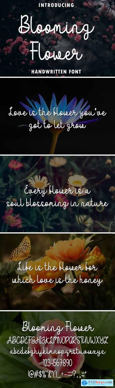 Blooming Flower Font