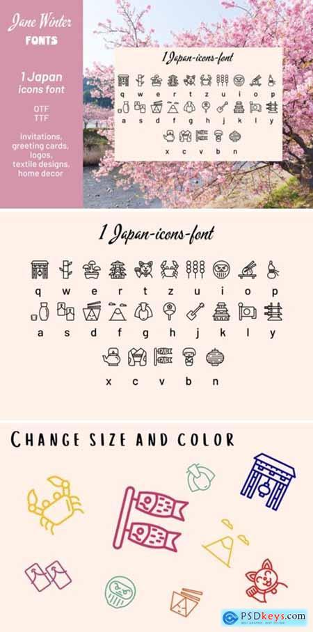 Japan Icons Font
