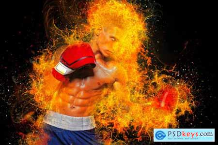 Fire Effect Photoshop Action 5735159