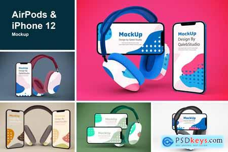 AirPods & iPhone Mockup 5787154