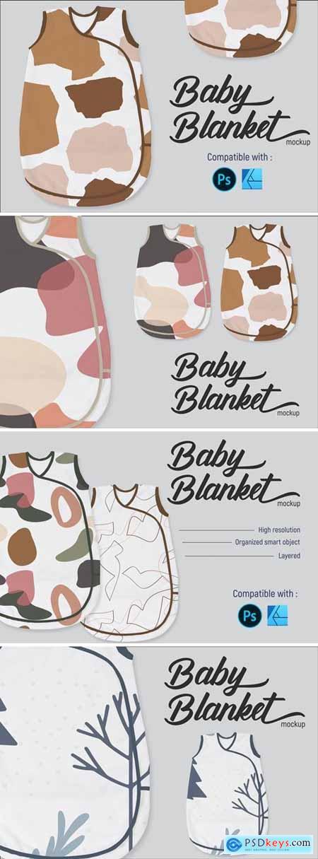 Baby blanket - Mockup