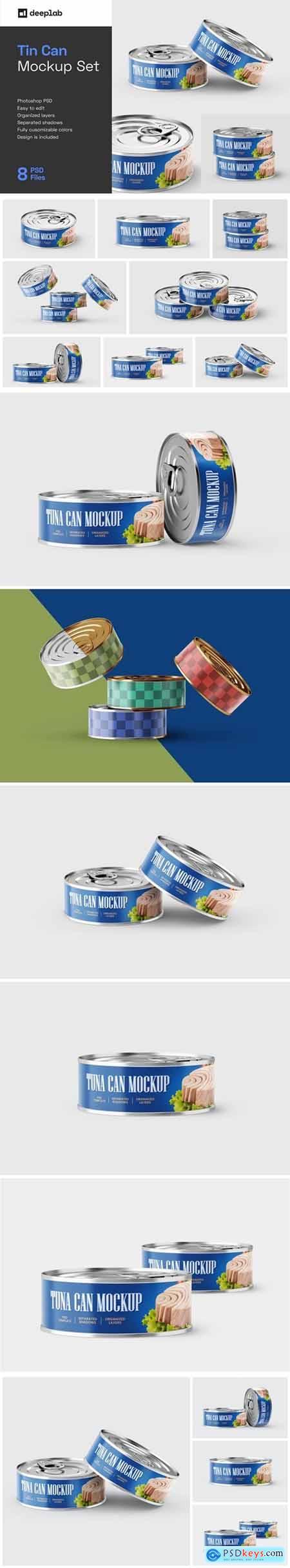 Tuna Tin Can Mockup Set 5772456