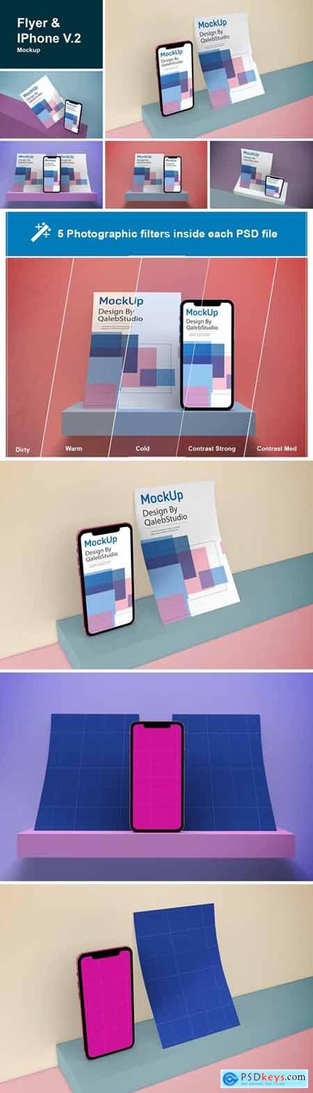 Flyer & iPhone V.2 Mockup