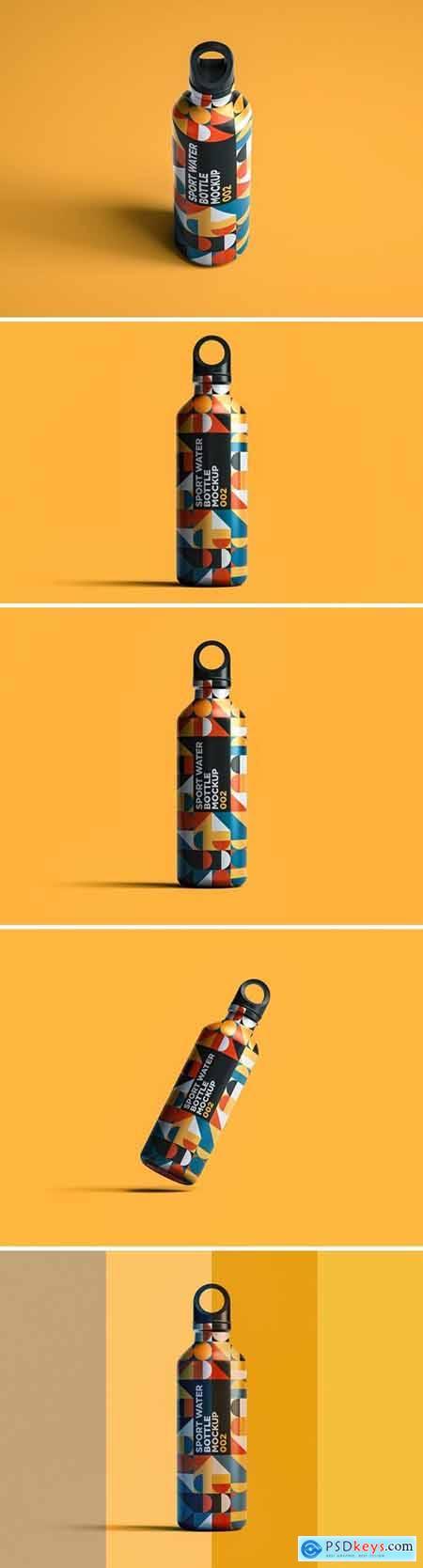 Sport Water Bottle Mockup 002
