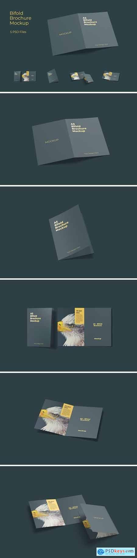 A5 Bifold Brochure Mockup Vol 1