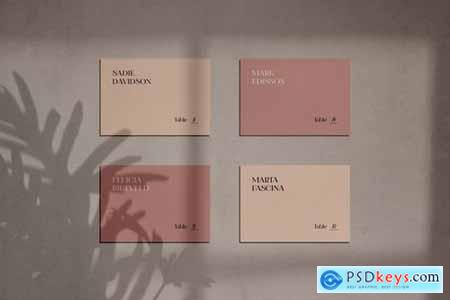 Business Card Mockups with Shadow Overlay