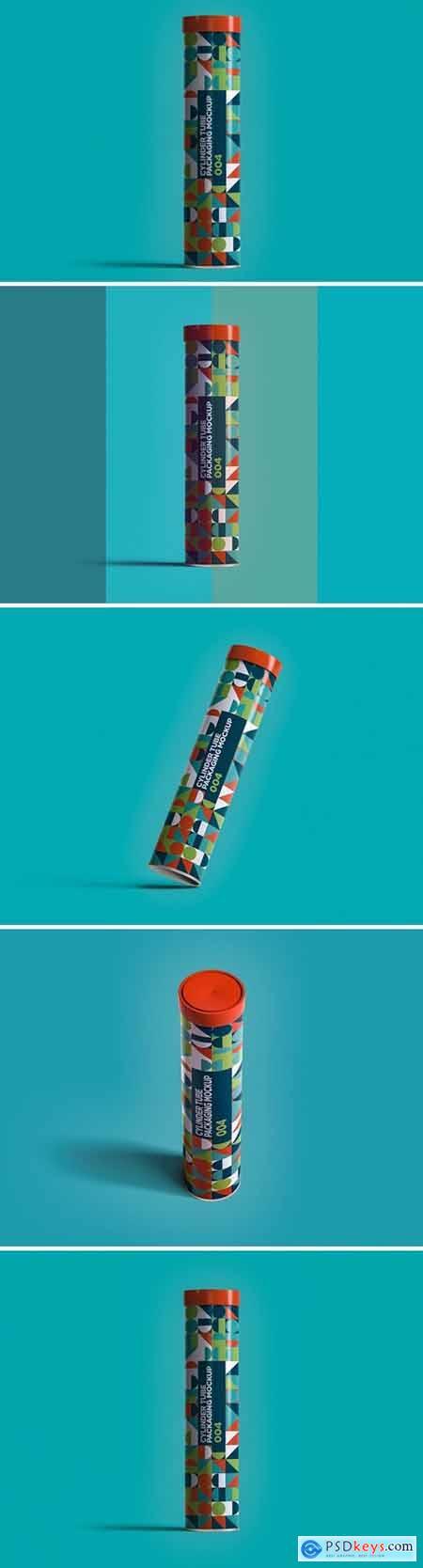 Cylinder Tube Packaging Mockup 004