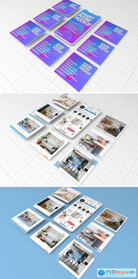 Phone Social Media – Mockup Template