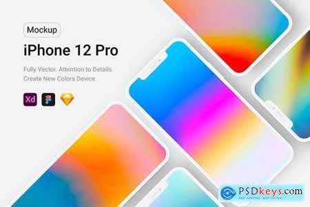 iPhone 12 Pro White Mockup