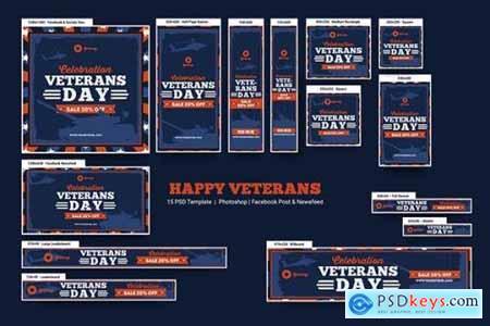 Happy Veterans Banners Ad