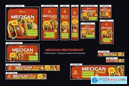 Mexican Food & Restaurant Banners Ad