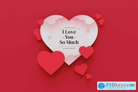 Valentines Day Heart Mockup