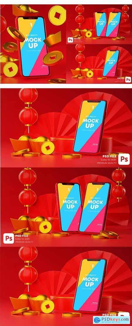 Phone Mockup Chinese New Year Promotion