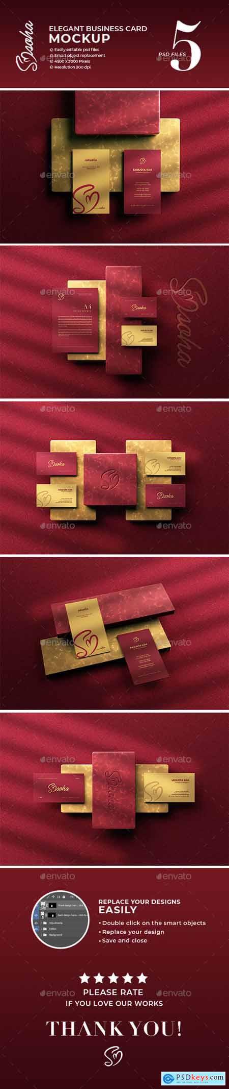 Elegant Business Card Mockup 30082631