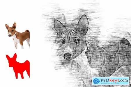 Pro Sketch Photoshop Action 5777112