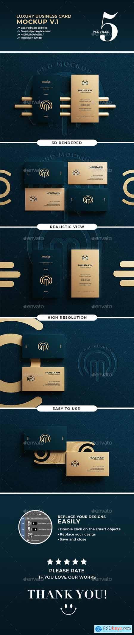 Luxury business card mockup v.1 30089626