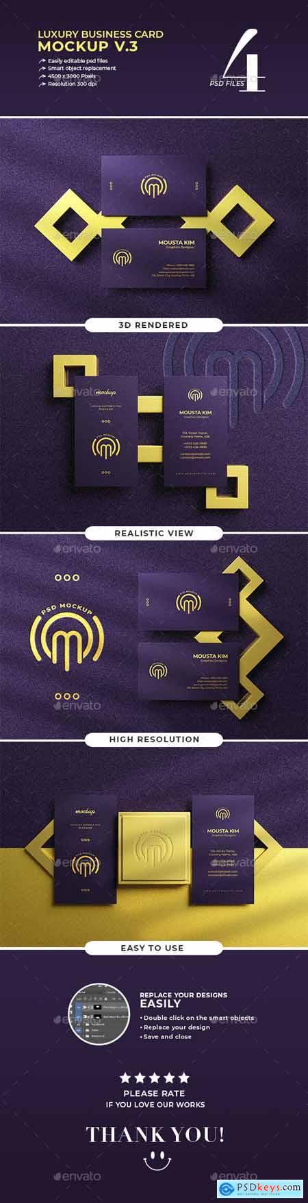 Luxury business card mockup v.3 30098520