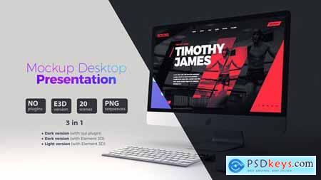 Mockup Desktop - Website Presentation 23148780