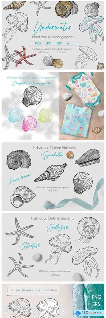 Underwater Vector Clipart Collection 7709465