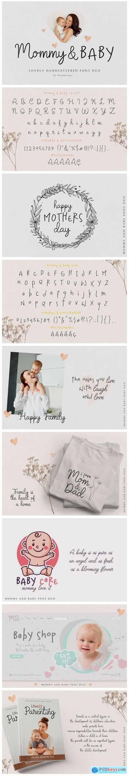Mommy & Baby Font