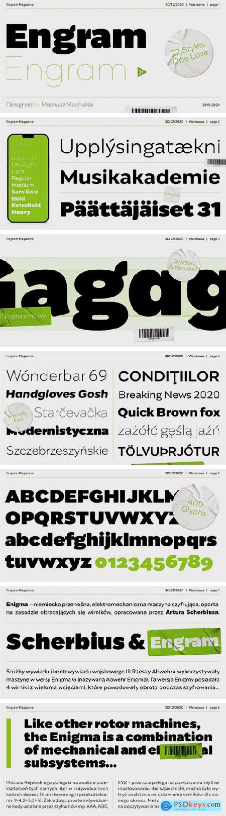 Engram Font Family