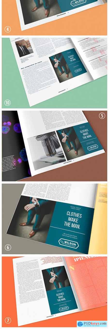 Magazine Advertisement Mockup - 11 Views 7971113