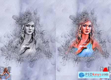 Ink Sketch Art Photoshop Action 5747283