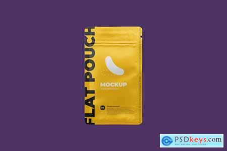 Zip Sachet Mockup flat empty pouch 4886088