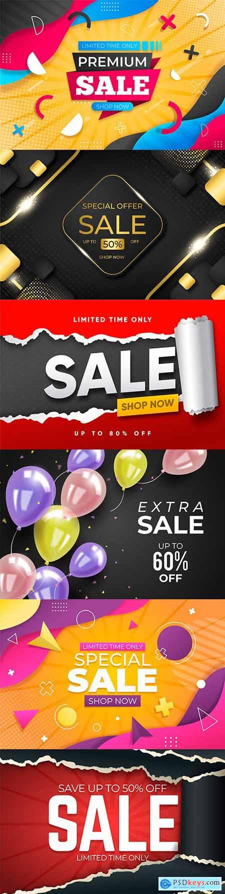 Super sales and mega discounts gradient abstract background