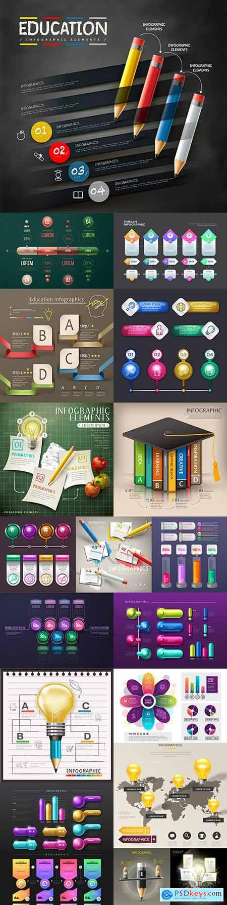 Infographics business options elements collection 13