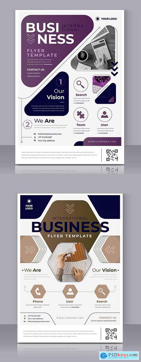 Business poster modern template for printing design