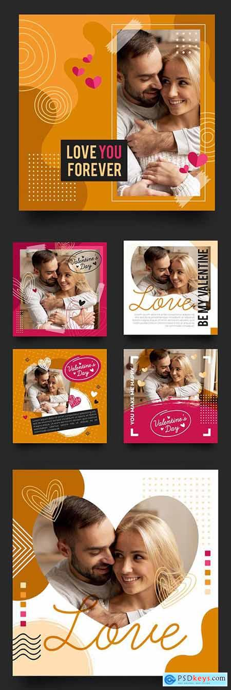 Valentines Day collection posts on instagram design 3